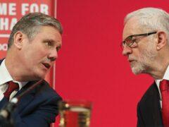 Sir Keir Starmer and Jeremy Corbyn (Jonathan Brady/PA)