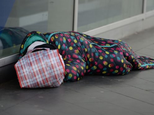 John, who is homeless and has been living on the streets, in Victoria, London (Nick Ansell/PA)