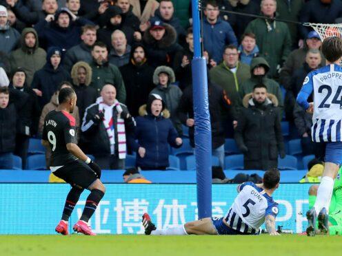 Jordan Ayew scored a memorable winner for Crystal Palace at Brighton in 2020 (Gareth Fuller/PA)