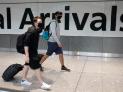 Heathrow has announced it recorded a 48% increase in passenger numbers in August compared with the previous month (Andrew Matthews/PA)