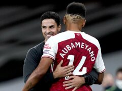 Arsenal manager Mikel Arteta has put an issue with Pierre-Emerick Aubameyang behind him (Will Oliver/PA)