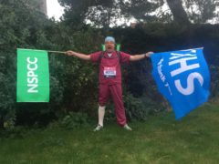 Simon Gallo, 62, of Stratford St Andrew in Suffolk, pictured in 2020 before running the virtual London Marathon (Simon Gallo/ PA)