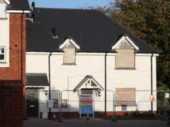 General view of the start of demolition work at the former home of Novichok victim Charlie Rowley, on Muggleton Road, Amesbury, Wiltshire (Andrew Matthews/PA)