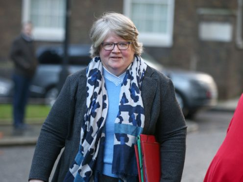 Works and Pensions Secretary Therese Coffey has been accused of getting her figures on Universal Credit wrong (Yui Mok/PA)