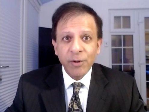 Screengrab of Dr Chaand Nagpaul, chairman of the British Medical Association (BMA) council.