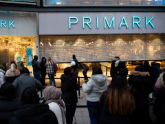 Latest Primark sales were below expectations after a dip in recent footfall (Jacob King/PA)