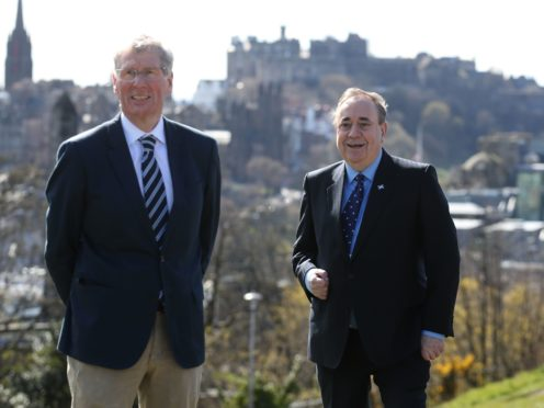 Kenny MacAskill and Alex Salmond were elected at the party's first-ever conference (Andrew Milligan/PA)