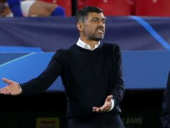Porto manager Sergio Conceicao is looking for Liverpool's weaknesses ahead of their Champions League tie in Portugal (Isabel Infantes/PA)