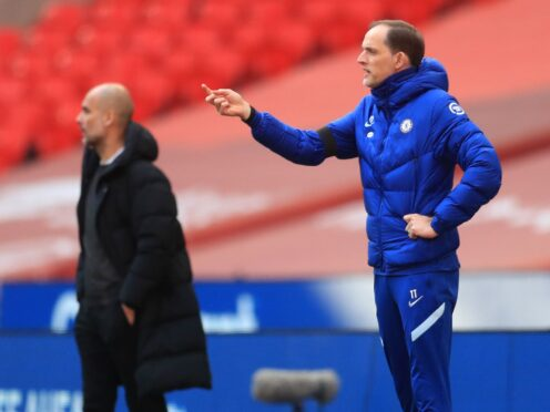 Thomas Tuchel, right, has insisted there is no personal duel between himself and Pep Guardiola, left, when Chelsea host Manchester City (Adam Davy/PA)