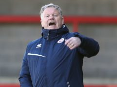 John Yems' 10-man Crawley earned a point (Gareth Fuller/PA)
