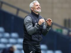 St Mirren's manager Jim Goodwin looking forward with optimism (Andrew Milligan/PA)