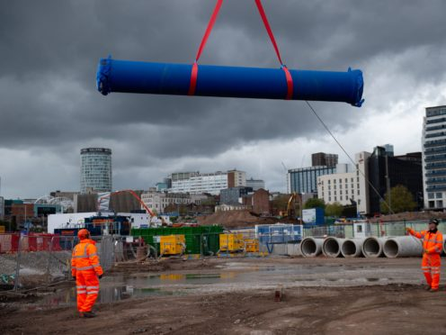 Work is underway on the HS2 line which lies entirely in England (Jacob King/PA)