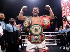 Anthony Joshua defends his WBA, IBF and WBO heavyweight titles this weekend (Nick Potts/PA)