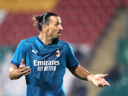 Zlatan Ibrahimovic will miss AC Milan's Champions League return at Liverpool because of injury (Niall Carson/PA)