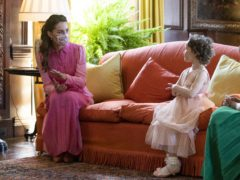 The Duchess of Cambridge met Mila Sneddon, aged five, at the Palace of Holyroodhouse (Jane Barlow/PA)