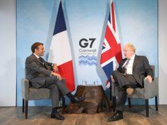 Prime Minister Boris Johnson and French President Emmanuel Macron (Stefan Rousseau/PA)