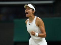 Raducanu has enjoyed an incredible rise since bursting onto the scene at Wimbledon (Adam Davy/PA)