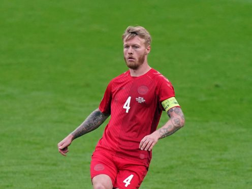 Denmark skipper Simon Kjaer was one of the first to reach Christian Eriksen after his collapse (Mike Egerton/PA)