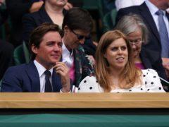 Edoardo Mapelli Mozzi and Princess Beatrice in the Royal Box at Wimbledon (John Walton/PA)
