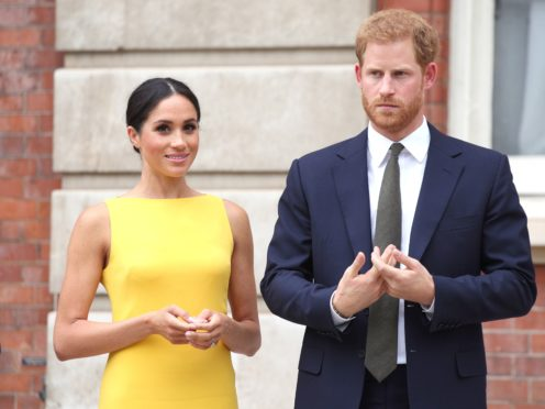 The Duke and Duchess of Sussex have been named on Time's influential people of 2021 list (Yui Mok/PA)
