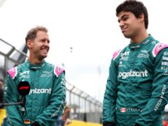 Aston Martin's Sebastian Vettel (left) and Lance Stroll will continue to race for the team in 2022 (Bradley Collyer/PA)