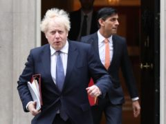 Prime Minister Boris Johnson and Chancellor of the Exchequer Rishi Sunak (Jonathan Brady/PA)