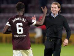 Beni Baningime, left, has earned the praise of manager Robbie Neilson (Jane Barlow/PA)
