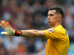 Aston Villa goalkeeper Emiliano Martinez is currently in Croatia with team-mate Emi Buendia (David Davies/PA)