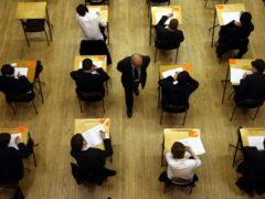 Pupils sitting exams (PA)
