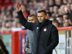Aberdeen manager Stephen Glass believes his plan will come good (Steve Welsh/PA)