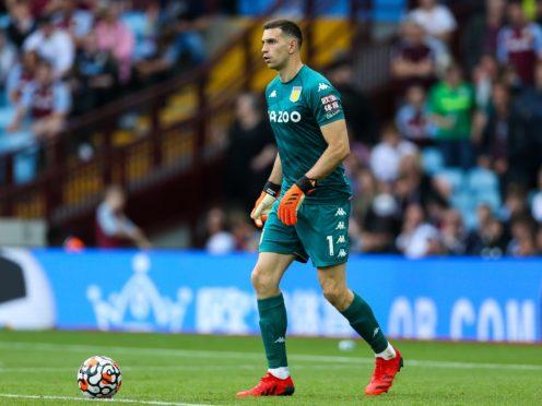 Aston Villa goalkeeper Emi Martinez will be assessed along with Emi Buendia (Barrington Coombs/PA)