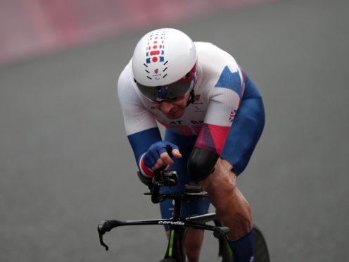 Great Britian's Jaco van Gass in the Men's C3 Time Trial (Tim Goode/PA)