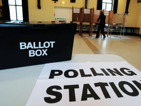 A ballot box at a polling station. (Rui Vieira/PA)