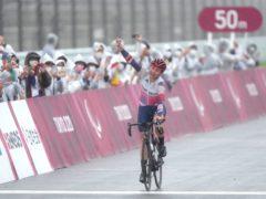 Great Britain's Sarah Storey celebrates her 17th gold medal (Tim Goode/PA)