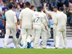England celebrate the wicket of Ravindra Jadeja (Adam Davy/PA)