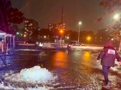 Flooding on New York York's Upper East Side (New York City Police Department via AP)