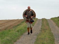 Tom Bell is preparing to run 17 miles in full battle dress (Richard McCarthy/PA)