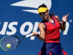 Emma Raducanu is into the third round (Seth Wenig/AP)