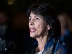 Diane Foley, mother of killed journalist James Foley, speaks to the media following a hearing at the US Courthouse in Alexandria, Virginia (Cliff Owen)
