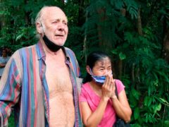 Barry Weller is reunited with his Thai partner Tawee Chaisanrit,(Tanadon Sribura/AP)