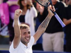 Dan Evans made it to the fourth round of the US Open for the first time (John Minchillo/AP)