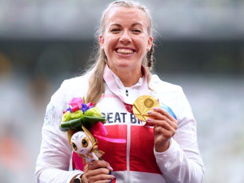 Great Britain's Hannah Cockroft celebrates her seventh Paralympic medal (John Walton/PA)