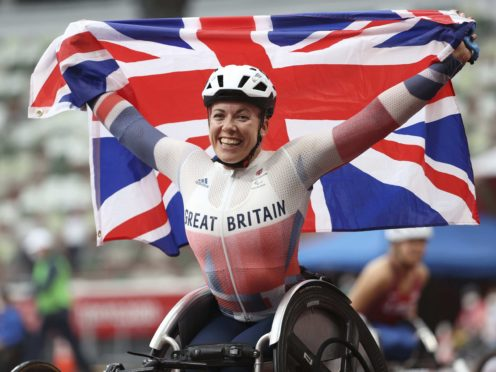 Hannah Cockroft wins gold in the 800m T34 – Women event at the Olympic Stadium (imagecommsralympicsGB/PA)