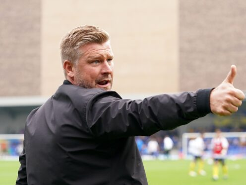 Oxford manager Karl Robinson praised United's fans (Tess Derry/PA)