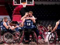 Great Britain claimed bronze in the wheelchair basketball (John Walton/PA)