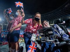 British Paralympians celebrate at the closing ceremony of the Tokyo Games on Sunday (Handout from OIS/PA Media)