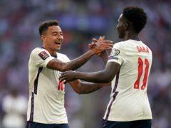 Jesse Lingard and Bukayo Saka were both on target for England (Nick Potts/PA)