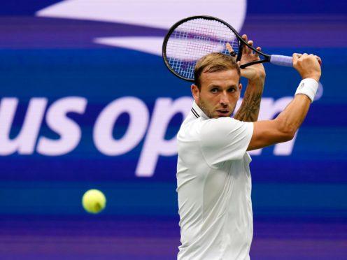 Dan Evans lost in straight sets to Daniil Medvedev (Seth Wenig/AP)