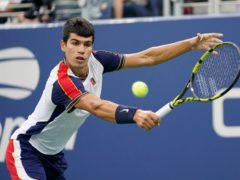 Carlos Alcaraz created history at the US Open (Frank Franklin II/AP)