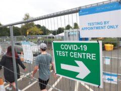 A Covid testing centre in Lisburn, Northern Ireland (Liam McBurney/PA)
